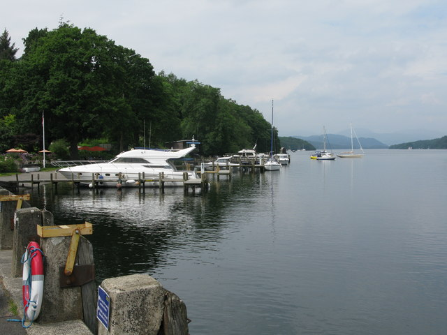 Boats moored at Lakeside, Windermere