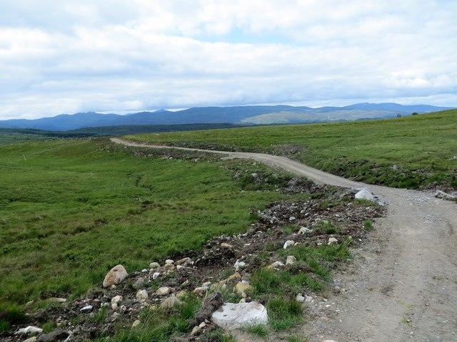 New track on the moor above Corrimony