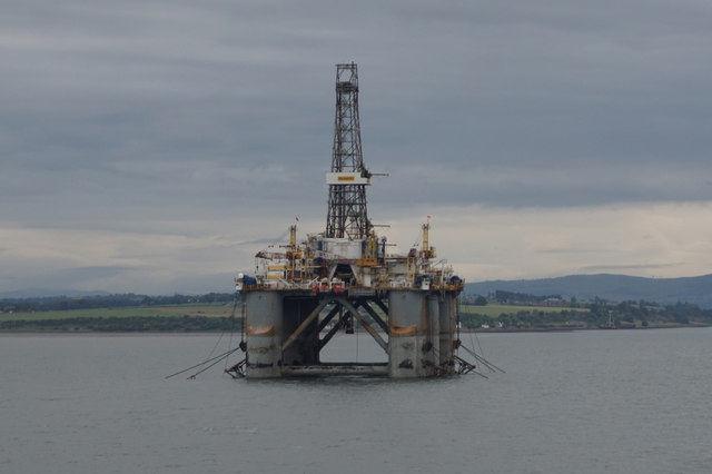 Wilhunter Oil Rig in Cromarty Firth