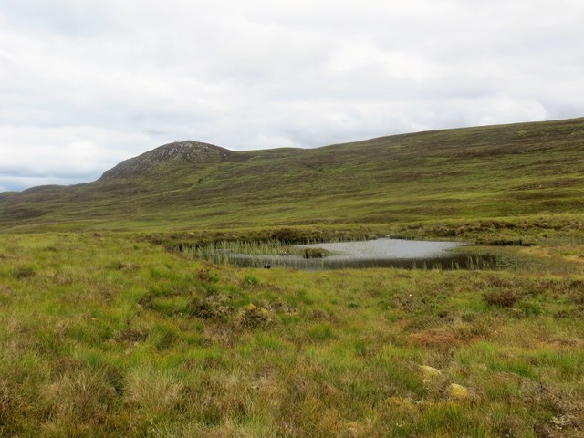 Small hill loch and bogland on the moor