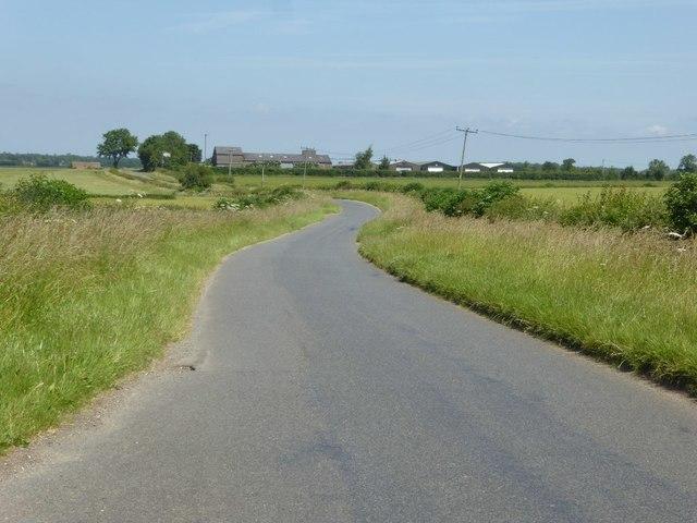 Country road near Meysey Hampton