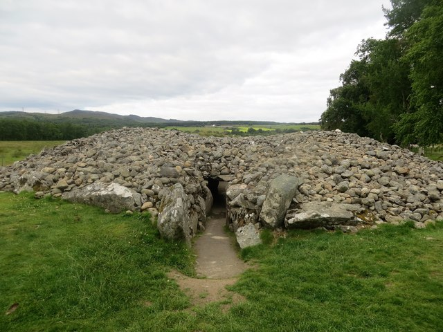 Entrance to the chambered cairn at Corrimony