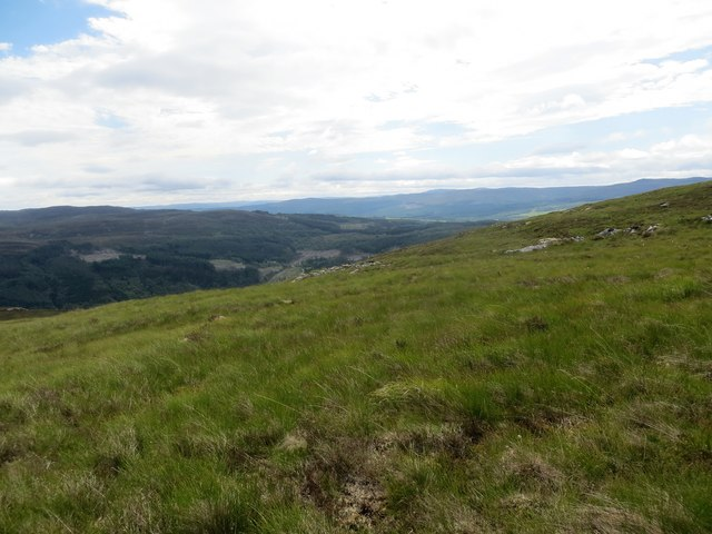 Moorland above Glas Burn overlooking Strath Glass