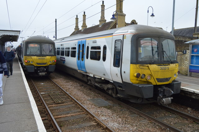 Trains crossing, Downham Market Station