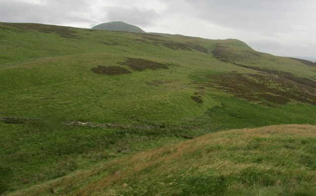 View west from Maiden Castle, Lomond Hills
