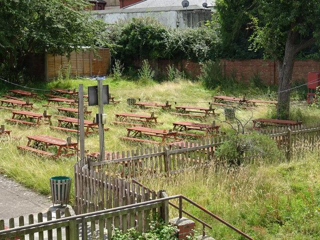 Beer garden at Ye Olde Black Bear