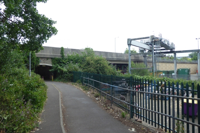 Passing under Barrow Road