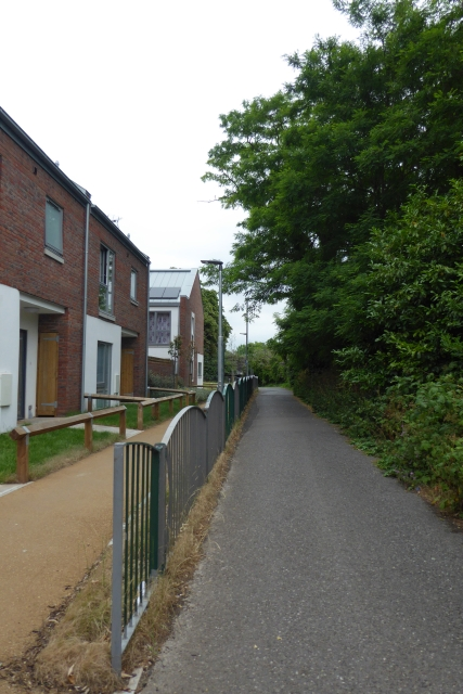 Housing beside the railway path
