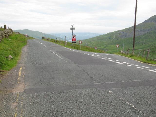 Road Junction at Kirkstone Pass
