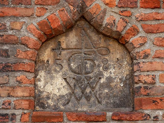 Hull Grammar School Datestone and Merchants' Marks