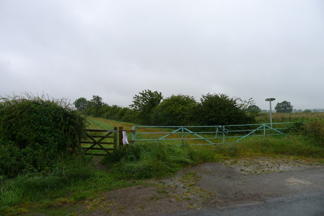 Entrance to Rights of Way to Stonesby Spinney and Strifts Plantation