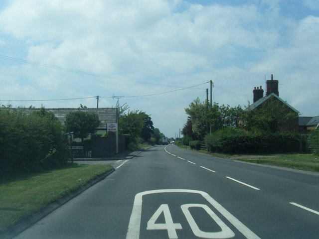 A54 Holmes Chapel Road at Sproston