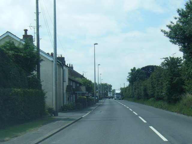 A54 at Sproston Green