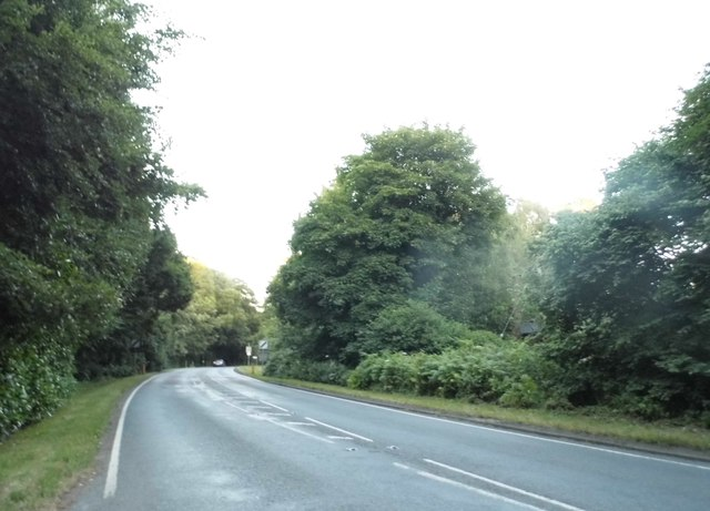 The A3090 leaving Ampfield