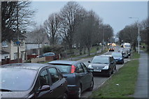 SX4759 : Cars parked, Budshead Rd by N Chadwick