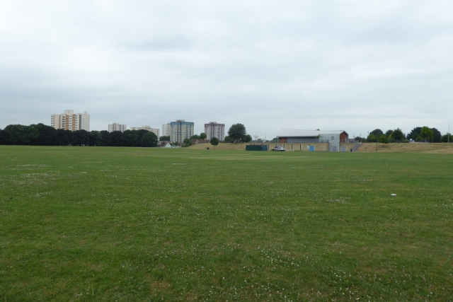 Across Netham Park and tower blocks beyond