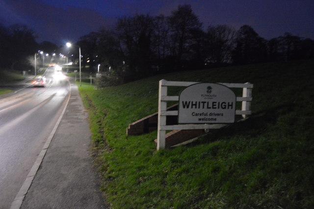 Entering Whitleigh