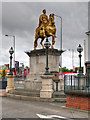 """TA1028 : Market Place, The Statue of King Billy """"the Great Deliverer"""" by David Dixon"""