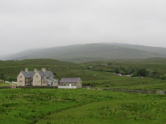 Creagan Dubh from east of Gobernuisgach Lodge near Tongue