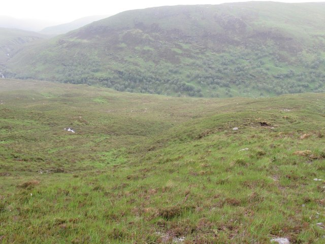Minor burn course above Glen Golly River near Ben Hope