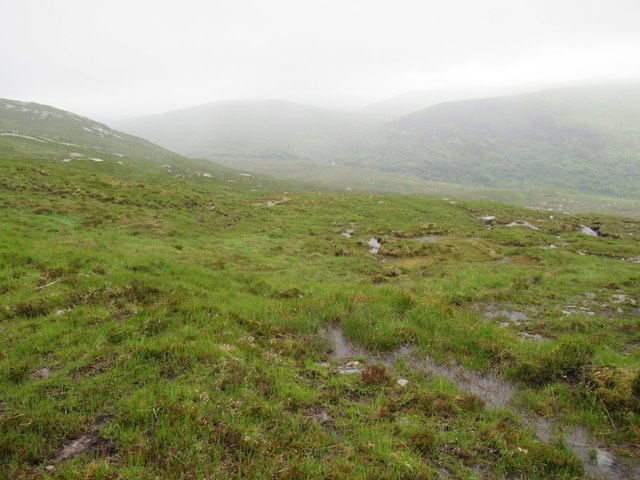 Wet ground on east shoulder of Creagan Dubh above Gobernuisgach Lodge