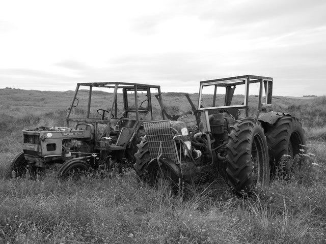 Old Tractors Near Cheswick Sands