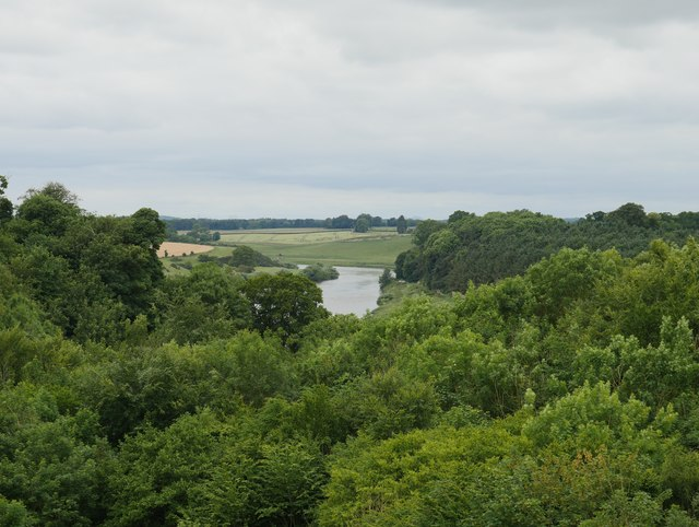 The River Tweed From Newbiggin Dean Viaduct