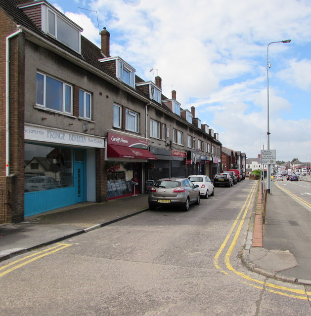 Row of shops, Newport Road, Rumney, Cardiff