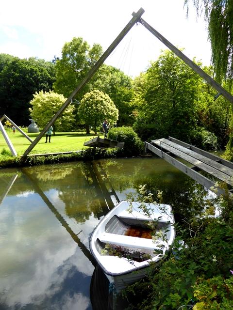 """Swing bridge"" at Quenington Old Rectory"