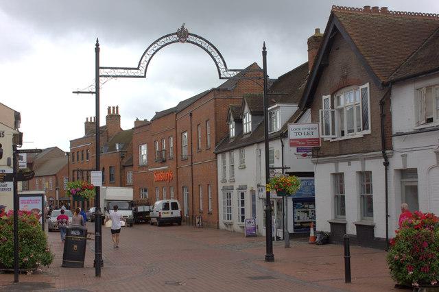 Chesham, north end of pedestrian precinct