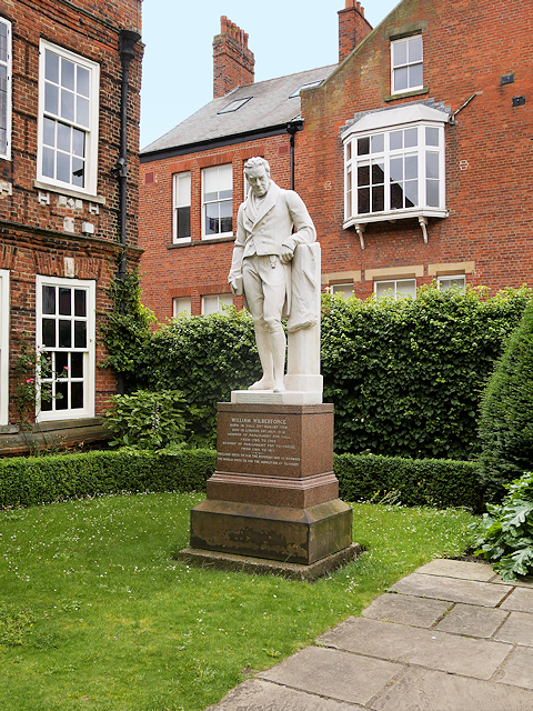William Wilberforce outside his House