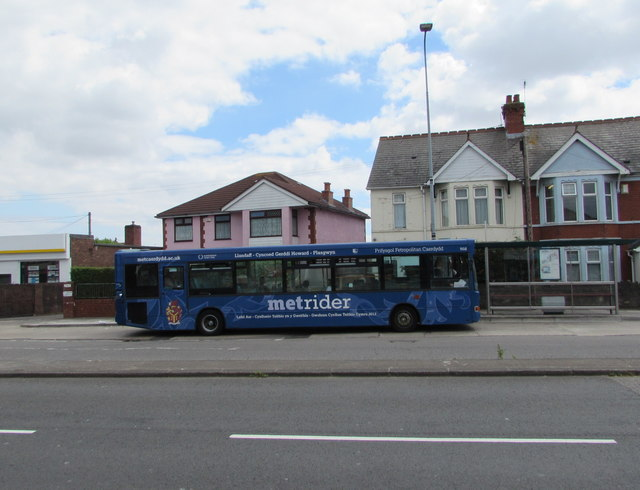 Met Rider bus, Newport Road, Rumney, Cardiff