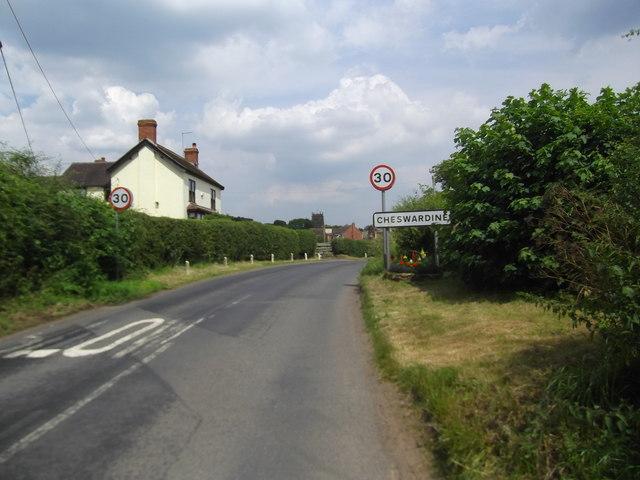 Approaching Cheswardine on Haywood Lane