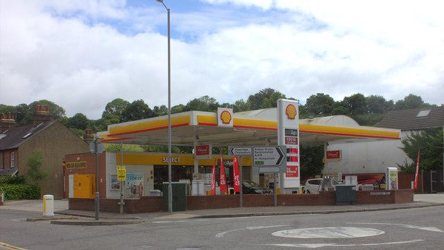 Fuel station at the bottom of Nashleigh Hill, Chesham