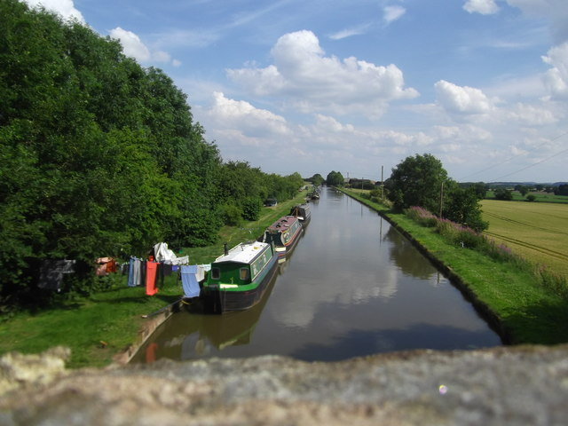 The Shropshire Union Canal at Fox Bridge