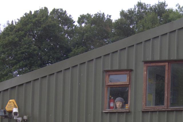 Nut Hazel Cross Farm, face in the window