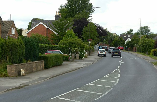 A608 passing through Smalley