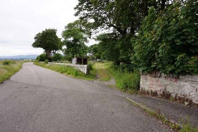 Unnamed road near Rosskeen Bridge
