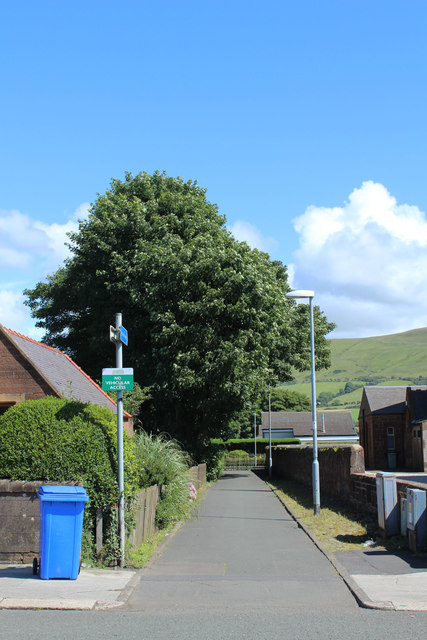 Path to Girvan Library