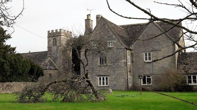 St Michael's Church and Church Farm, Poole Keynes