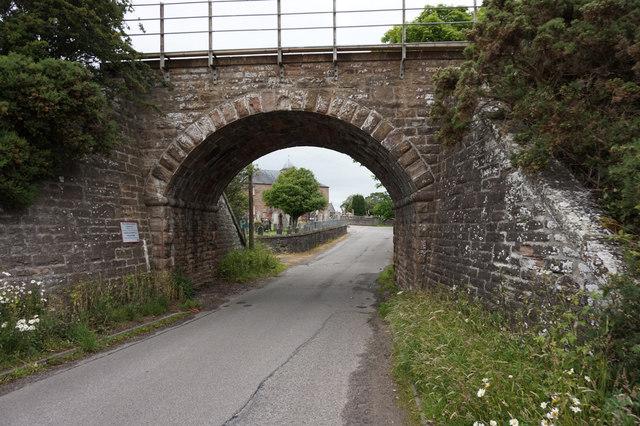 Rail bridge on Rosskeen Road