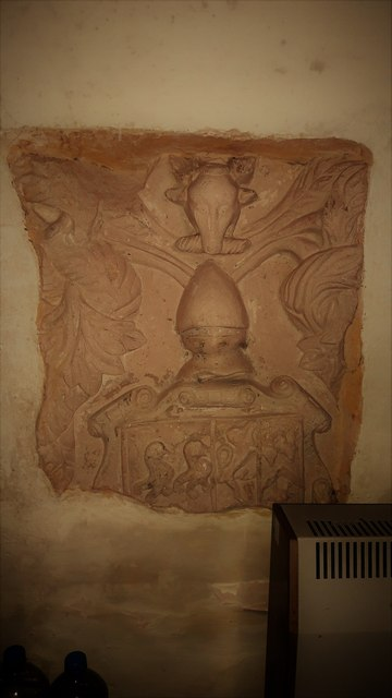 Fragment of carving in St Michael's church, Poole Keynes