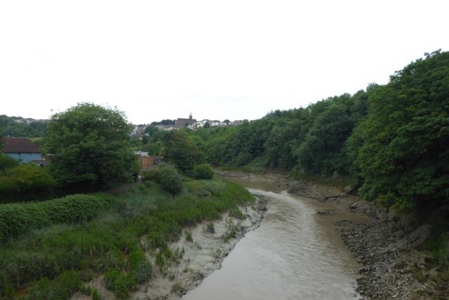 View from the railway bridge