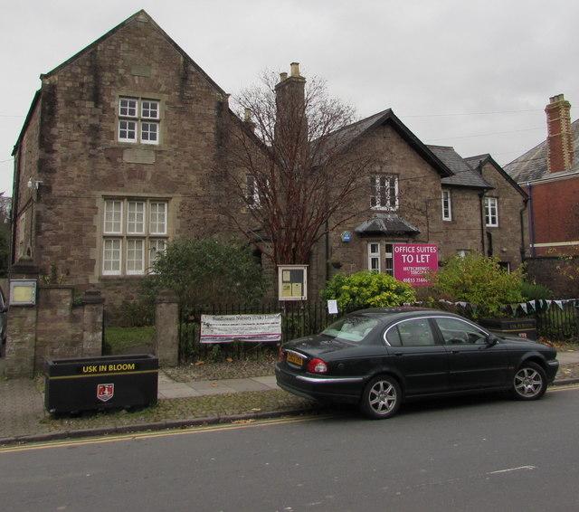 Grade II listed Old Grammar School, Usk
