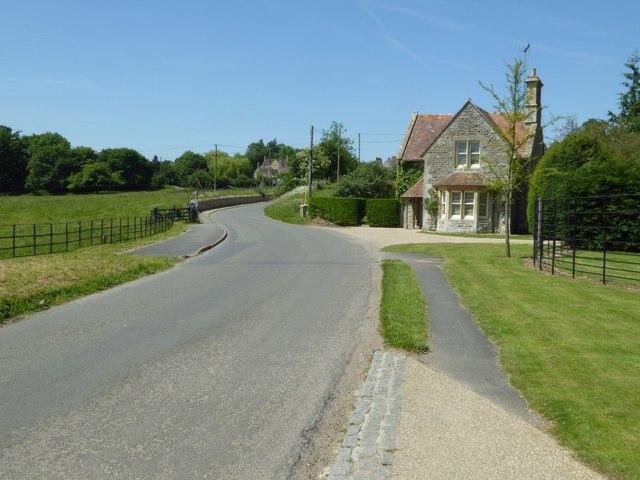 Road into Coln St Aldwyns