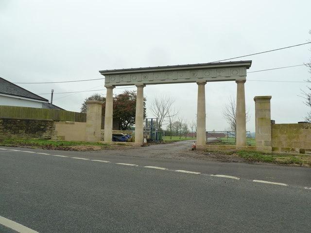 Entrance arch to Charlton Park estate