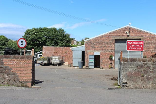 Entrance to Council Yard, Girvan