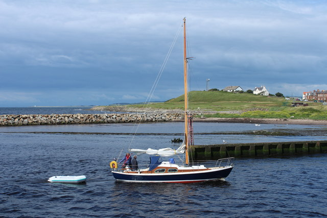 Yacht Entering Harbour at Girvan