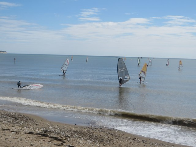 Windsurfers off North Sands, Bridlington