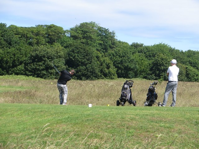 Teeing off at Bridlington Links Golf Course